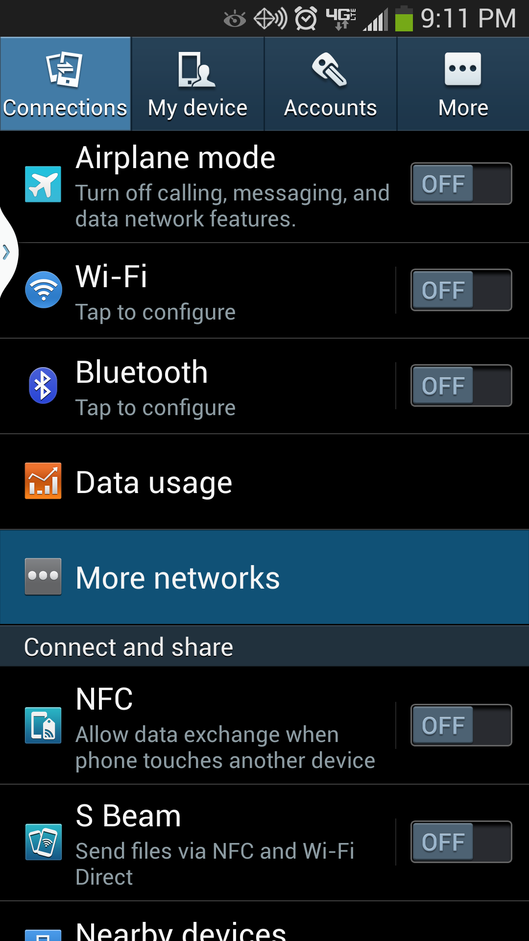 Galaxy S4 Mobile Hotspot View More Networks