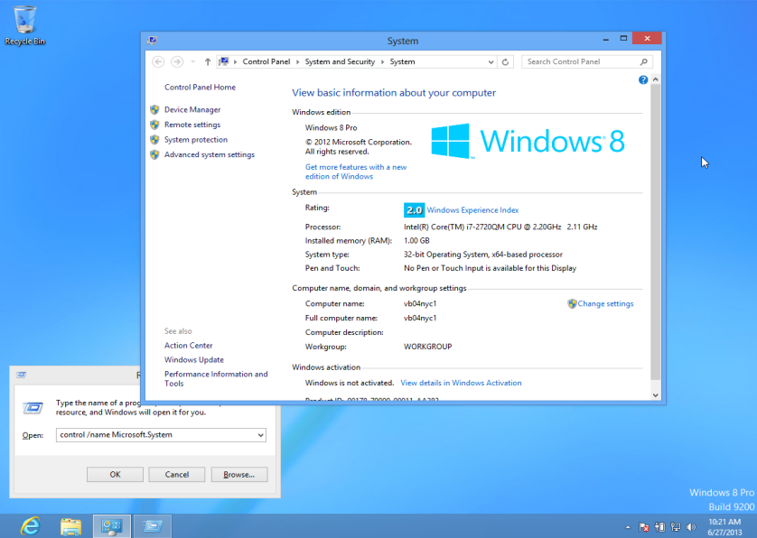 View whether Windows 8 is 64bit or 32bit