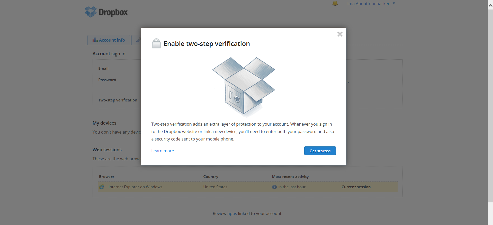 Dropbox Two Factor Authentication Flaw