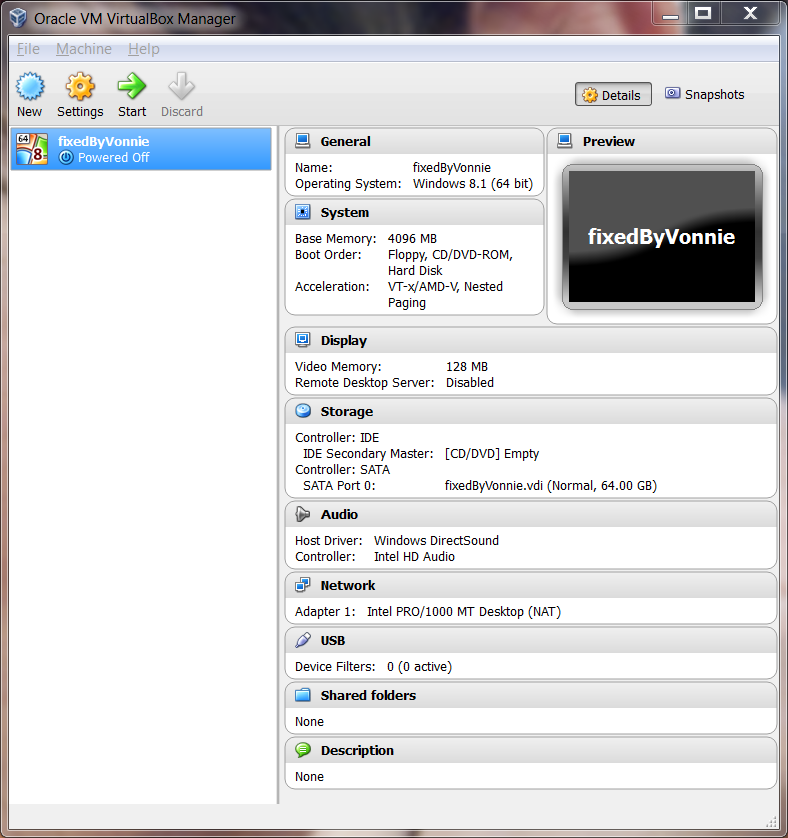 Virtual Box Virtual Machine ready to go
