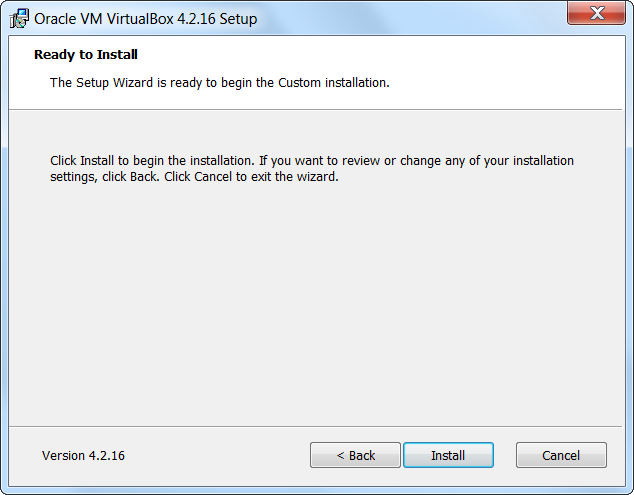 Virtualbox Setup Begin