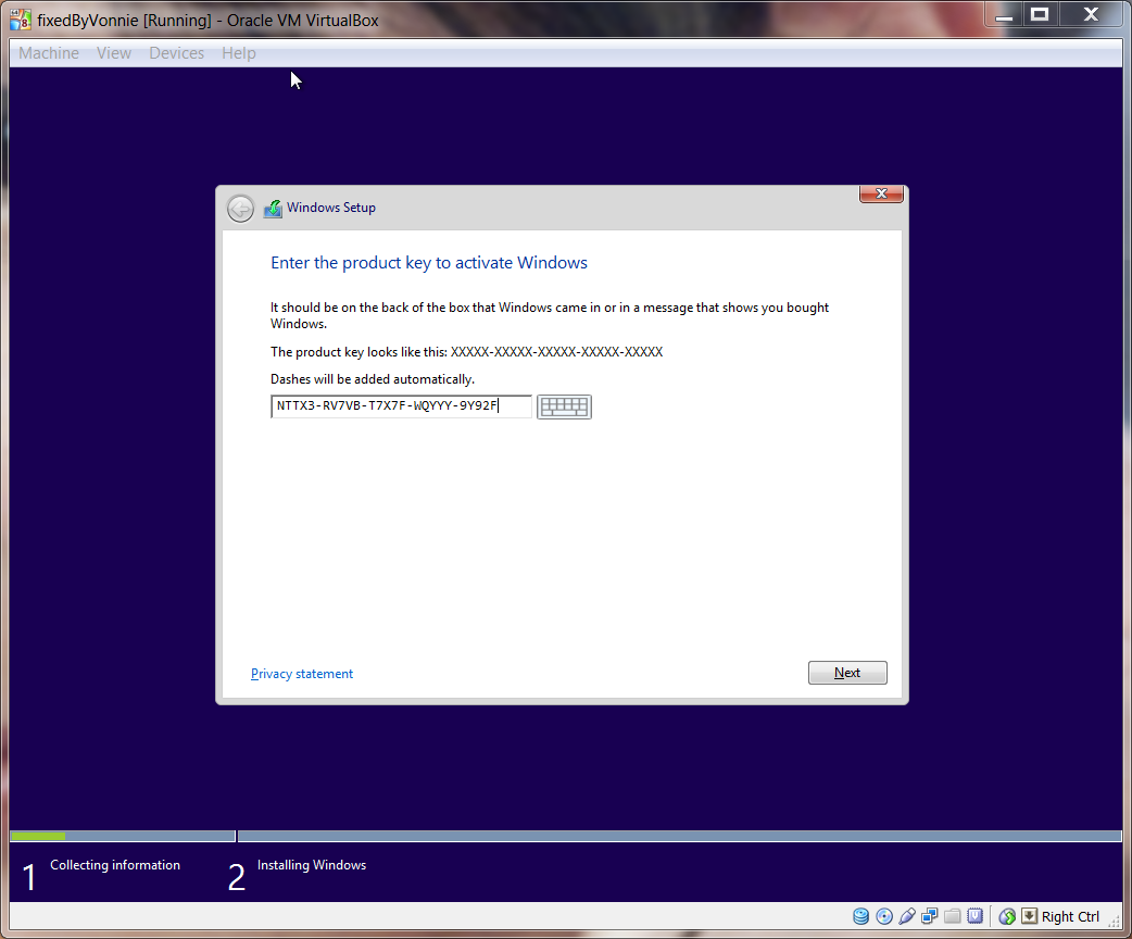 How to install windows 8 1 public preview in virtualbox for Window 8 1 pro product key