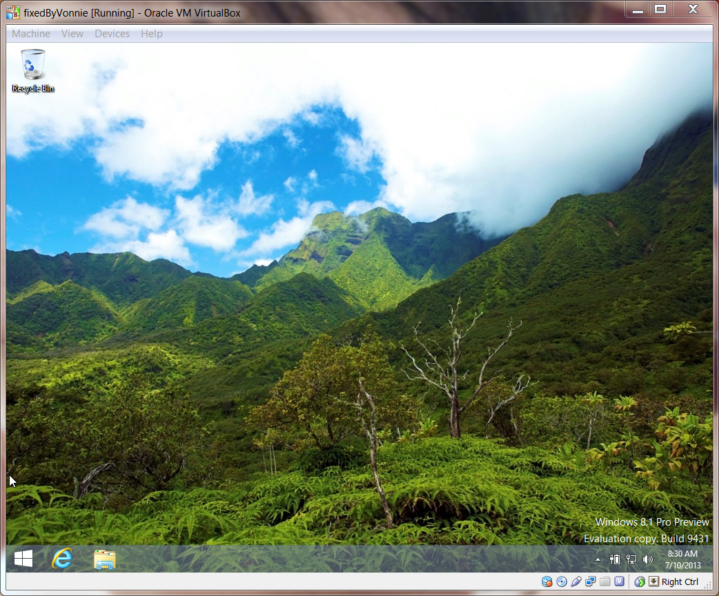 Windows 8.1 Desktop Screen