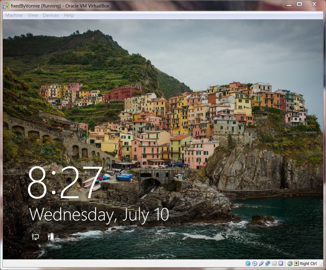 Windows 8.1 Lock Screen