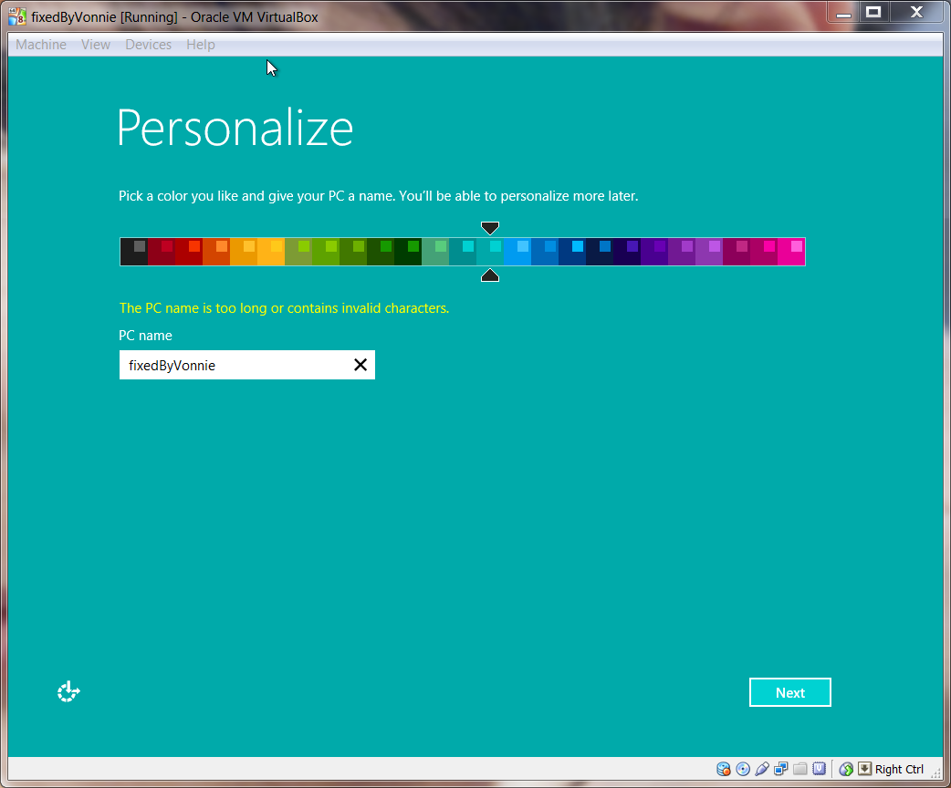 Windows 8.1 Personalize Setup