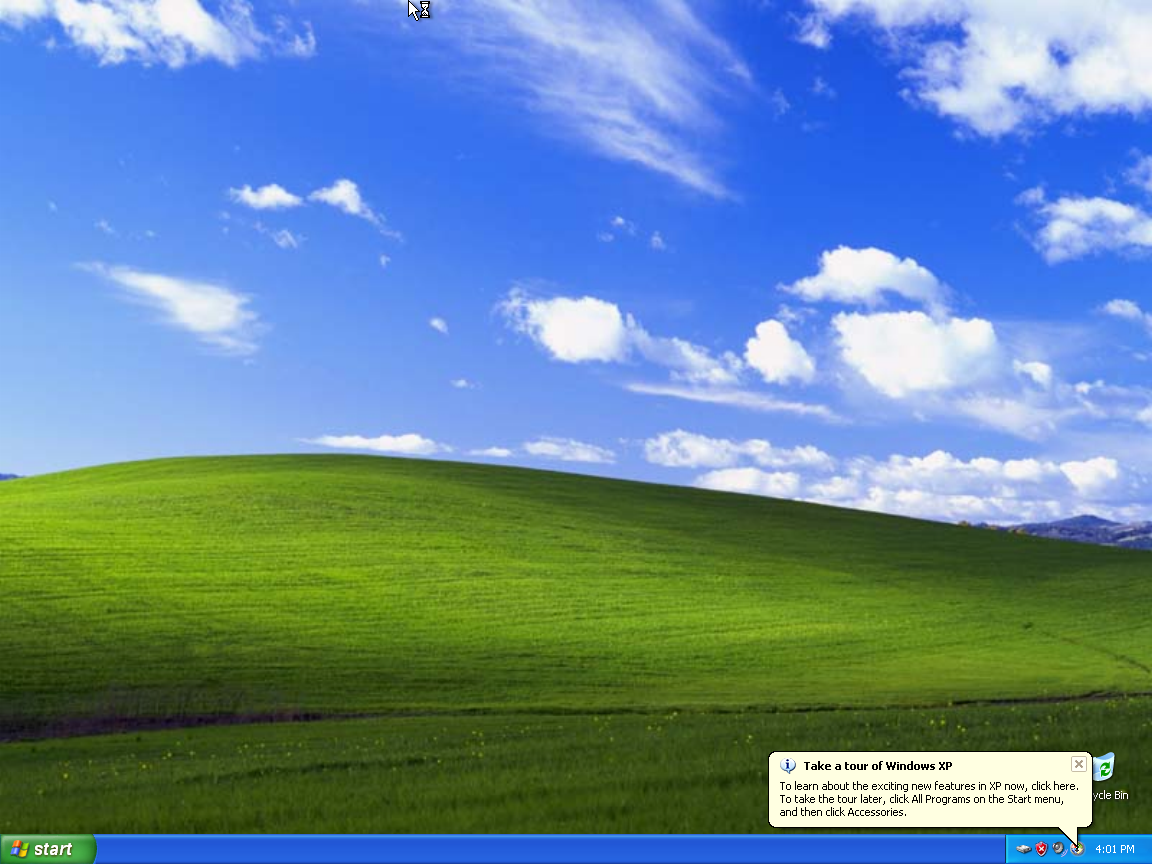 The Default Windows XP desktop