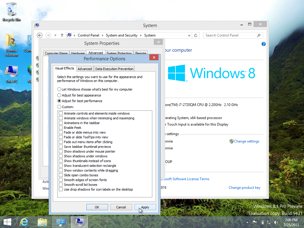 Adjust Windows 8.1 to get the best performance