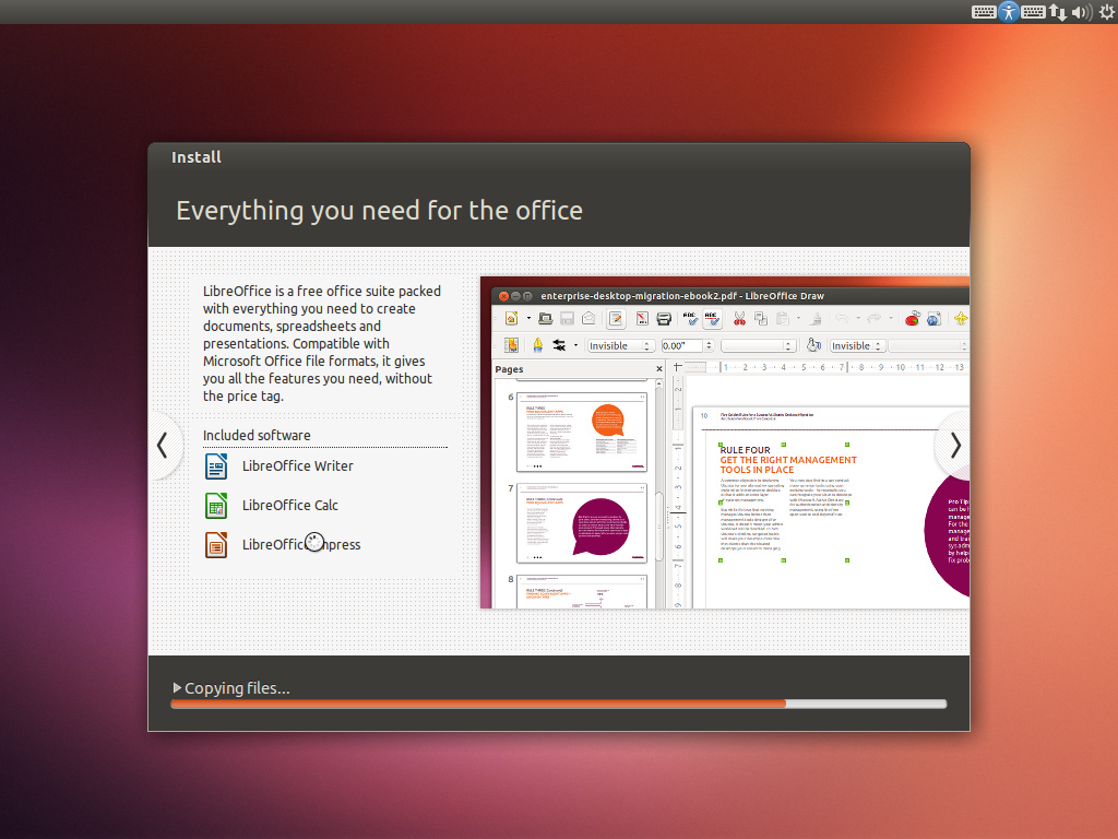 Ubuntu comes with LibreOffice!