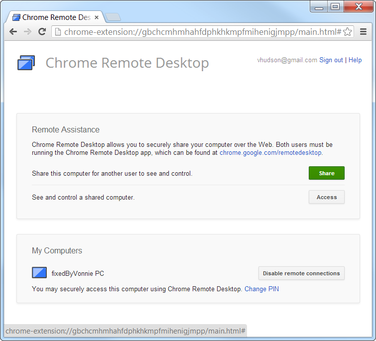 Chrome Remote Desktop Remote Assistance Share your Screen