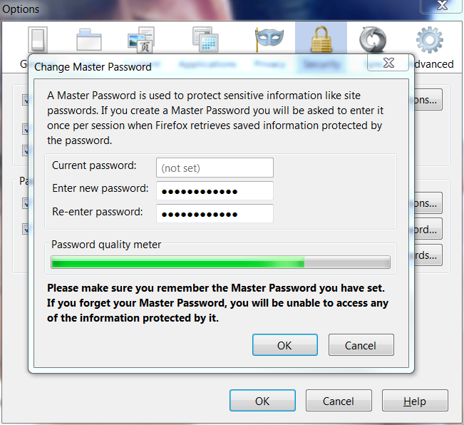Set a Master Password for Firefox