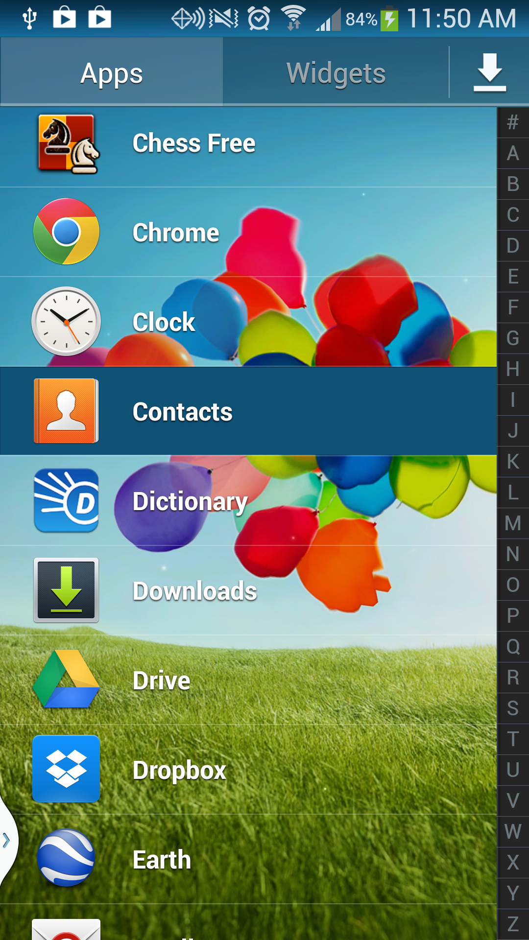Galaxy S4 Contacts