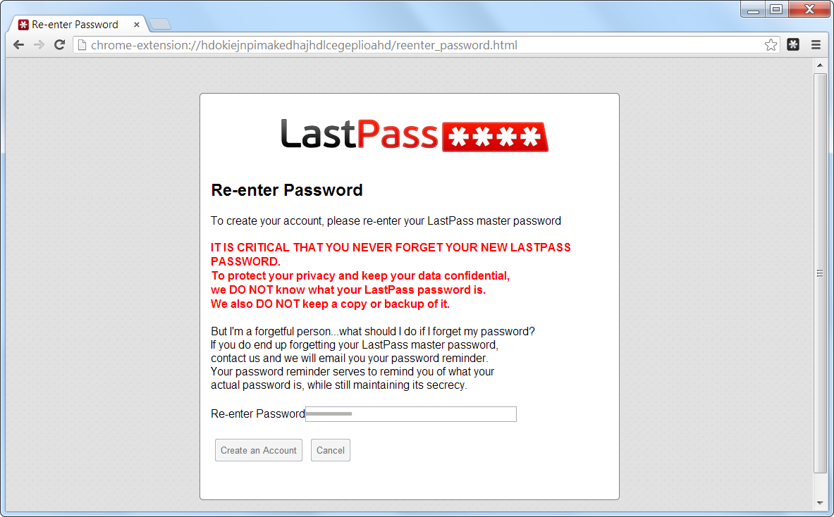 LastPass Are you Sure?