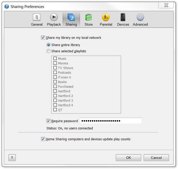 How to enable Home Sharing in iTunes