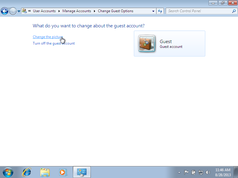 Change Windows 7 Guest Account Picture