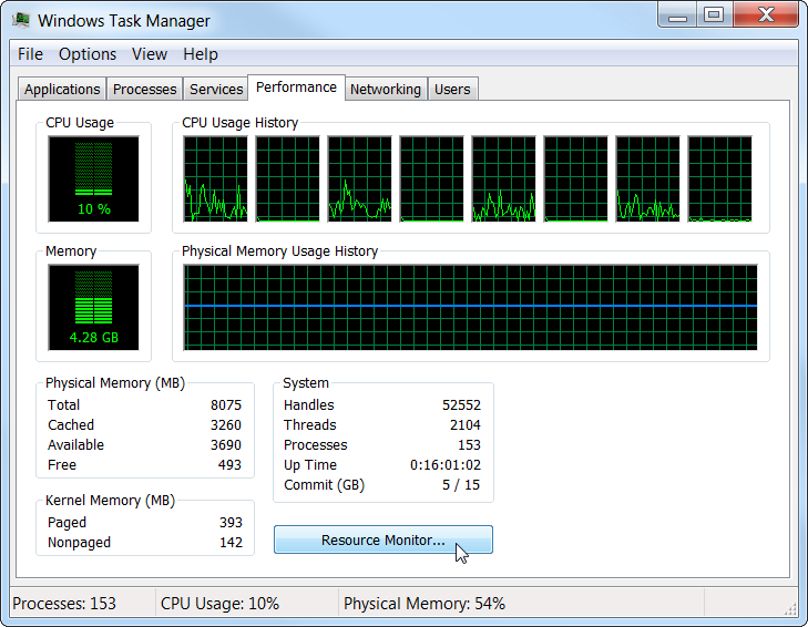 Task Manager Monitor your Network