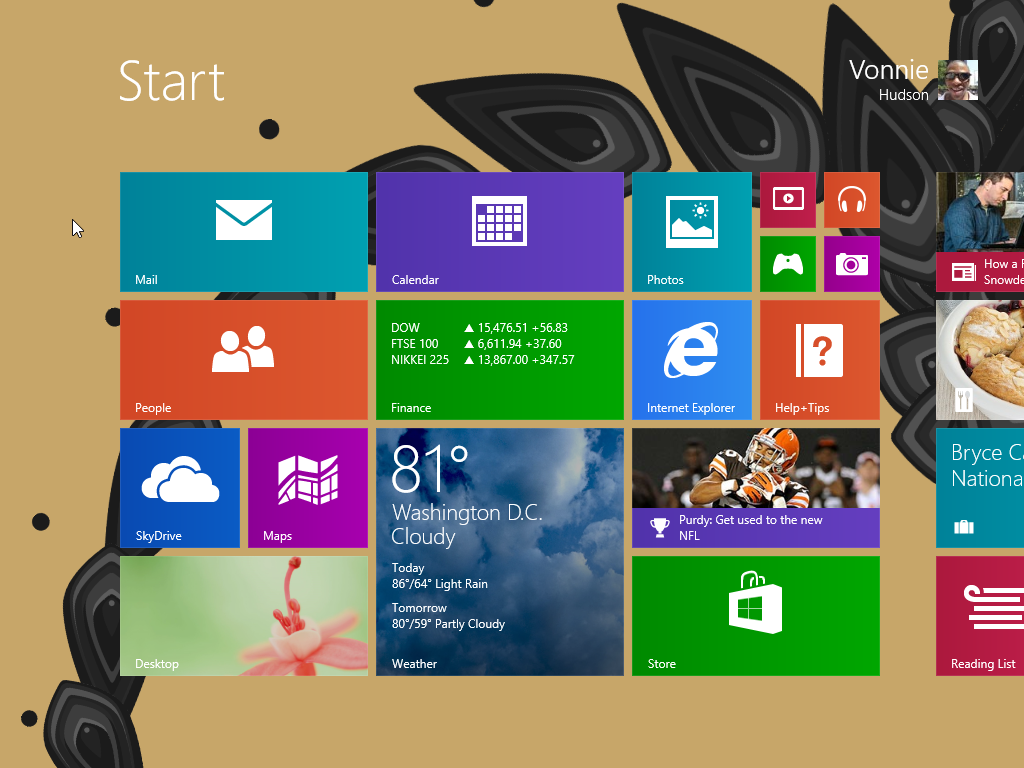Windows 8.1 Start Screen Animated PNG APNG