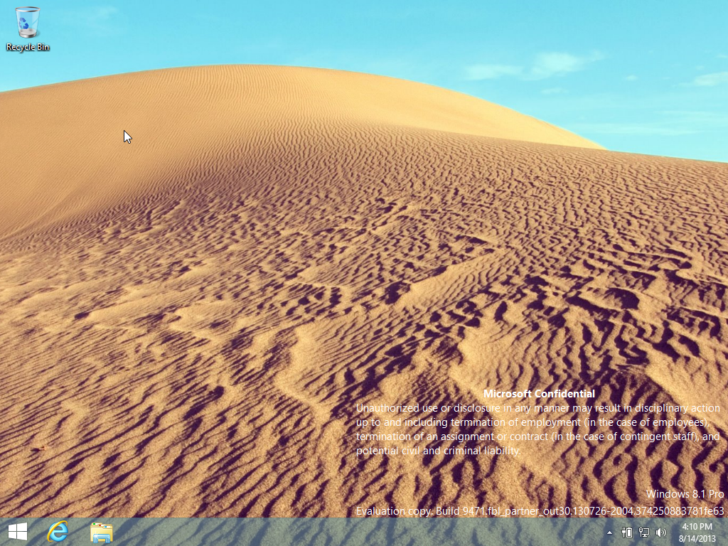 Windows 8.1 Traditional Desktop