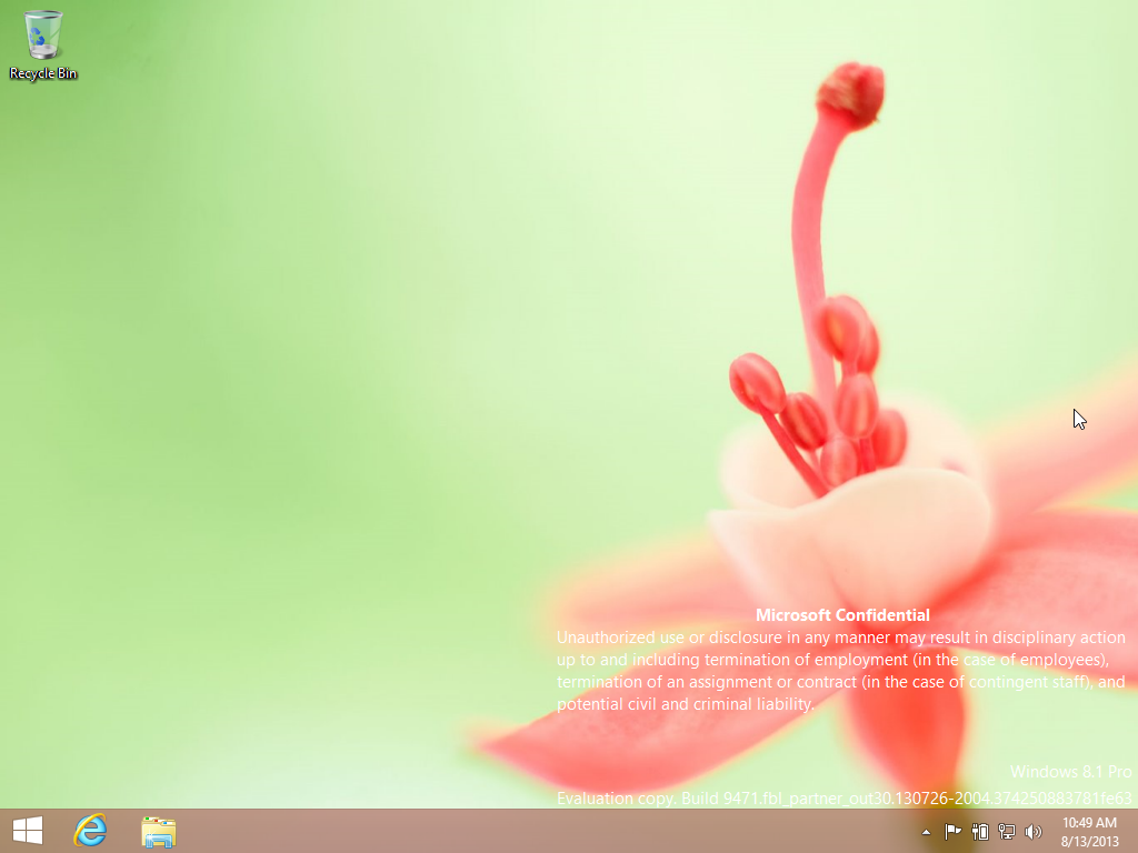 Windows 8.1 Build 9471 Desktop