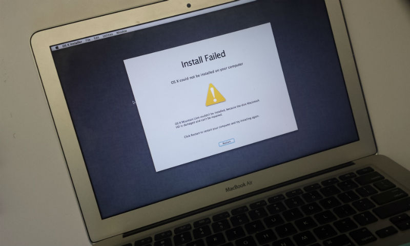 Macbook Air Disk Macintosh HD is damaged