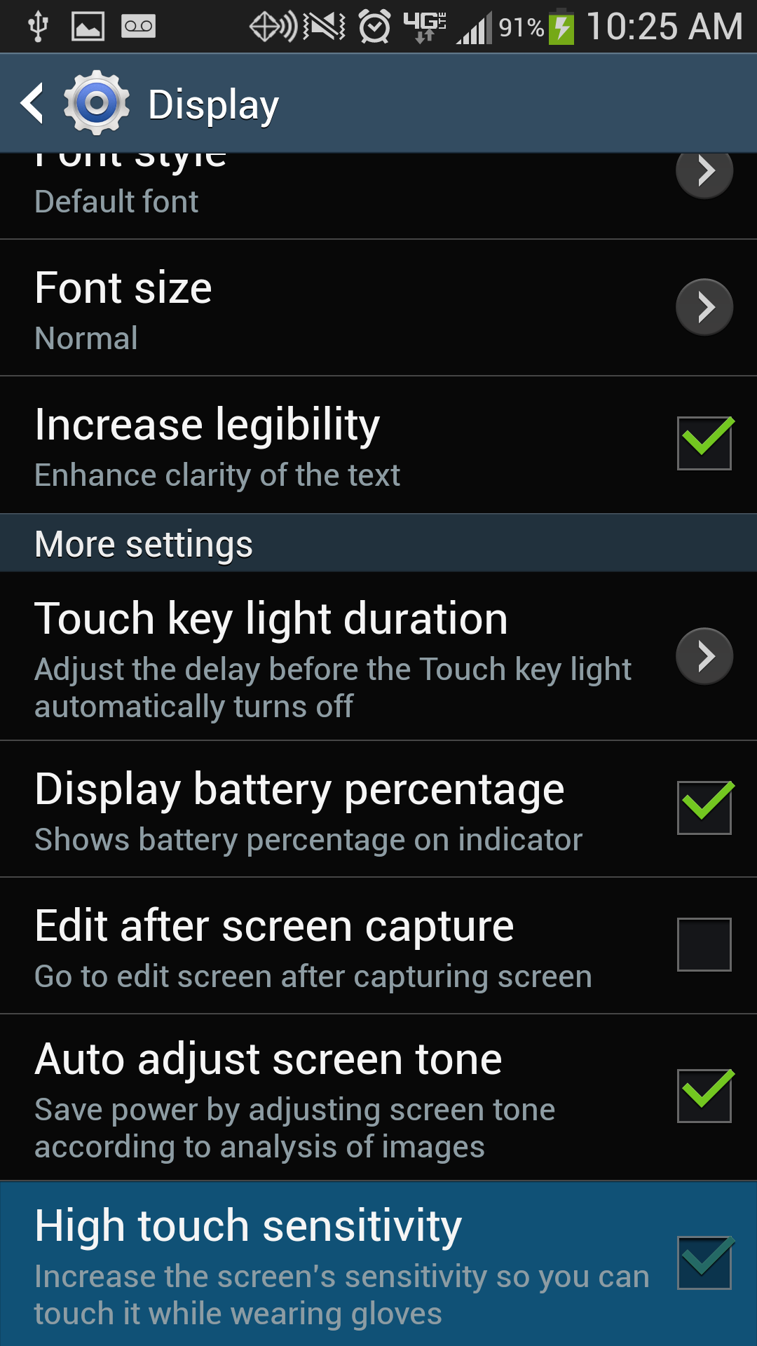 Galaxy S4 High Touch Sensitivity