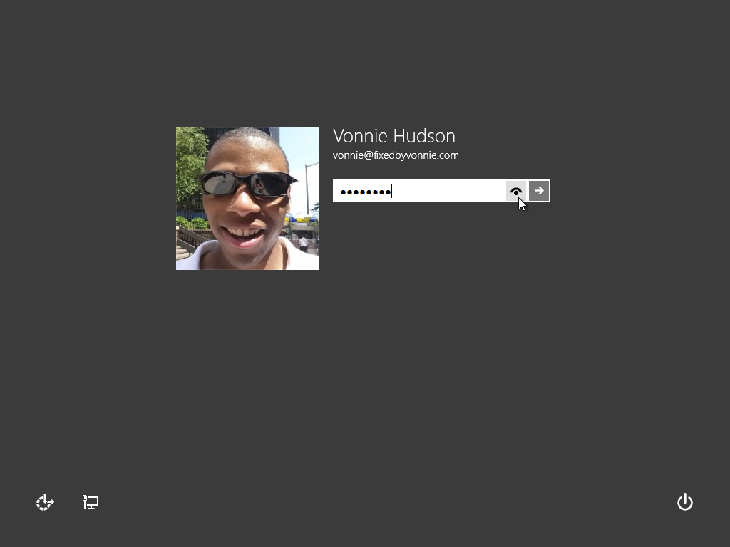 Windows 8.1 Login Screen