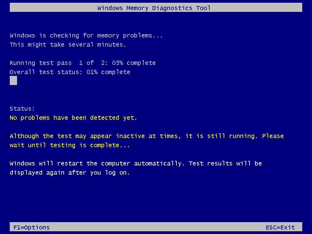 Windows Memory Diagnostic Tool in Action