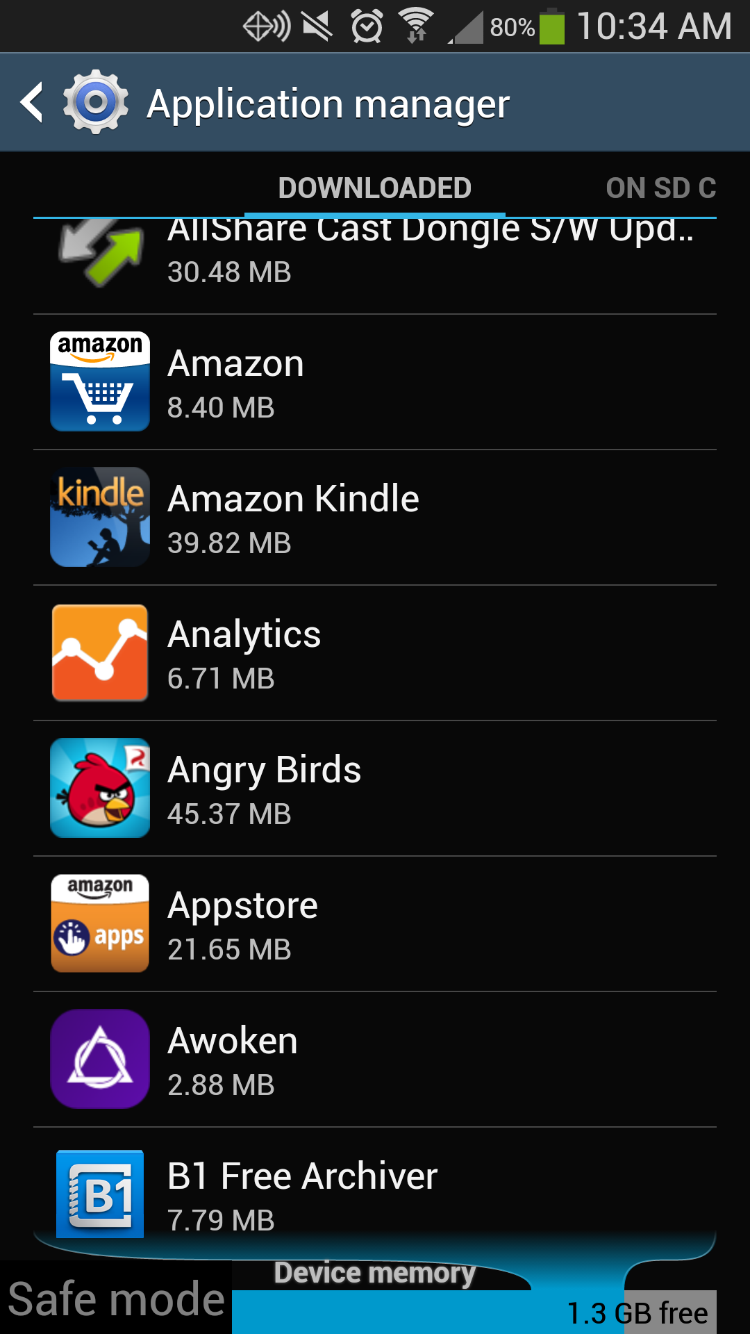 Galaxy S4 Application List