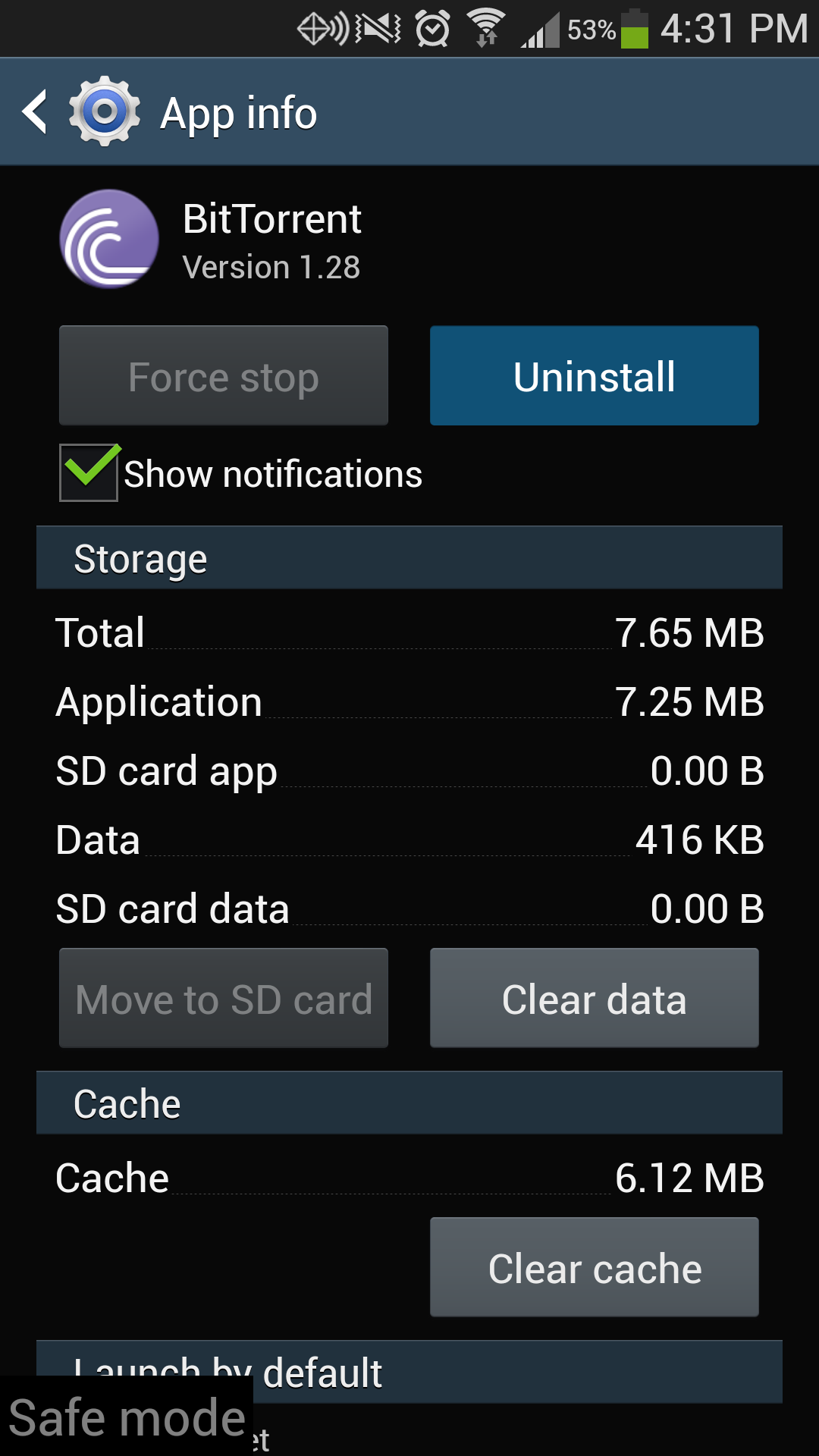 Uninstall Galaxy S4 App
