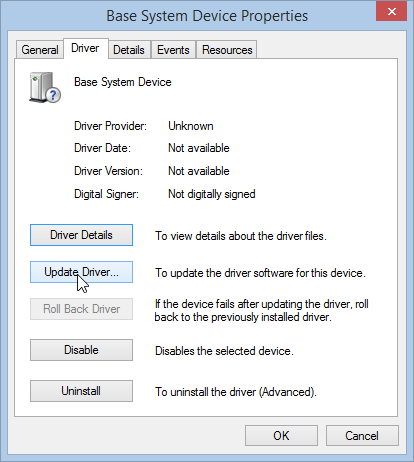 Windows 8.1 Update Device Driver