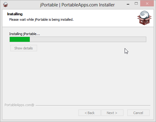 Installing jPortable on Windows 8