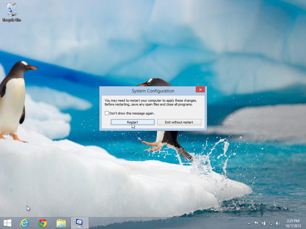 how to reboot and change to safe mode
