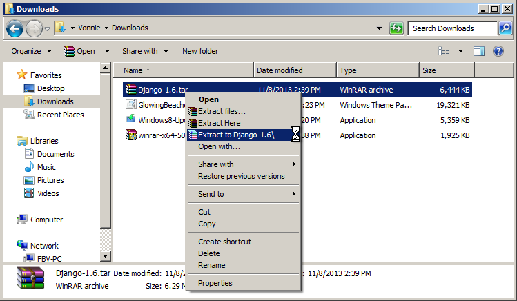 How to make WinRAR extract archives to a folder named after
