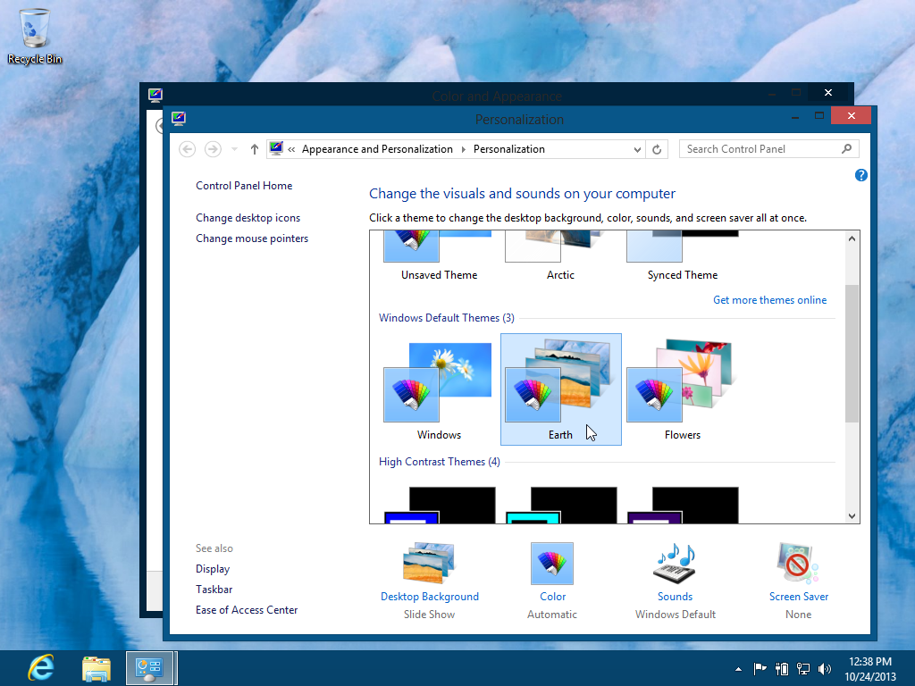 Windows 8 Default Theme