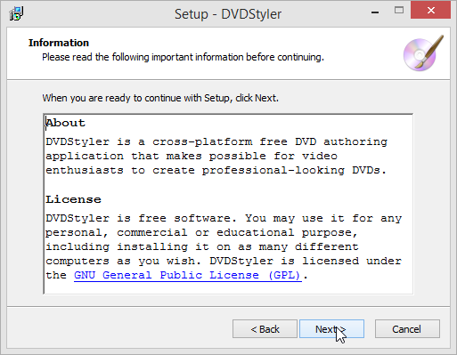DVDStyler License