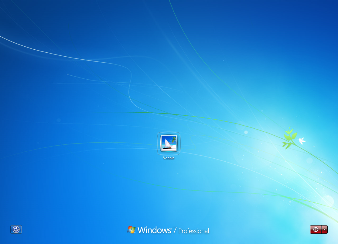 Windows 7 Login Screen no password