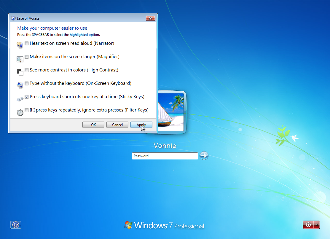 Windows 7 Ease of Access
