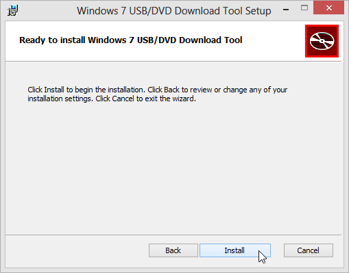 Windows 7 USB Download Tool Installation
