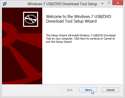 Windows 7 USB download tool