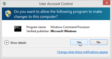 Windows 8.1 Command Prompt Admin