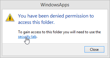 Windows 8.1 You have been denied permission