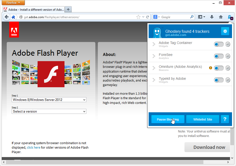 Unbound blog Install adobe flash