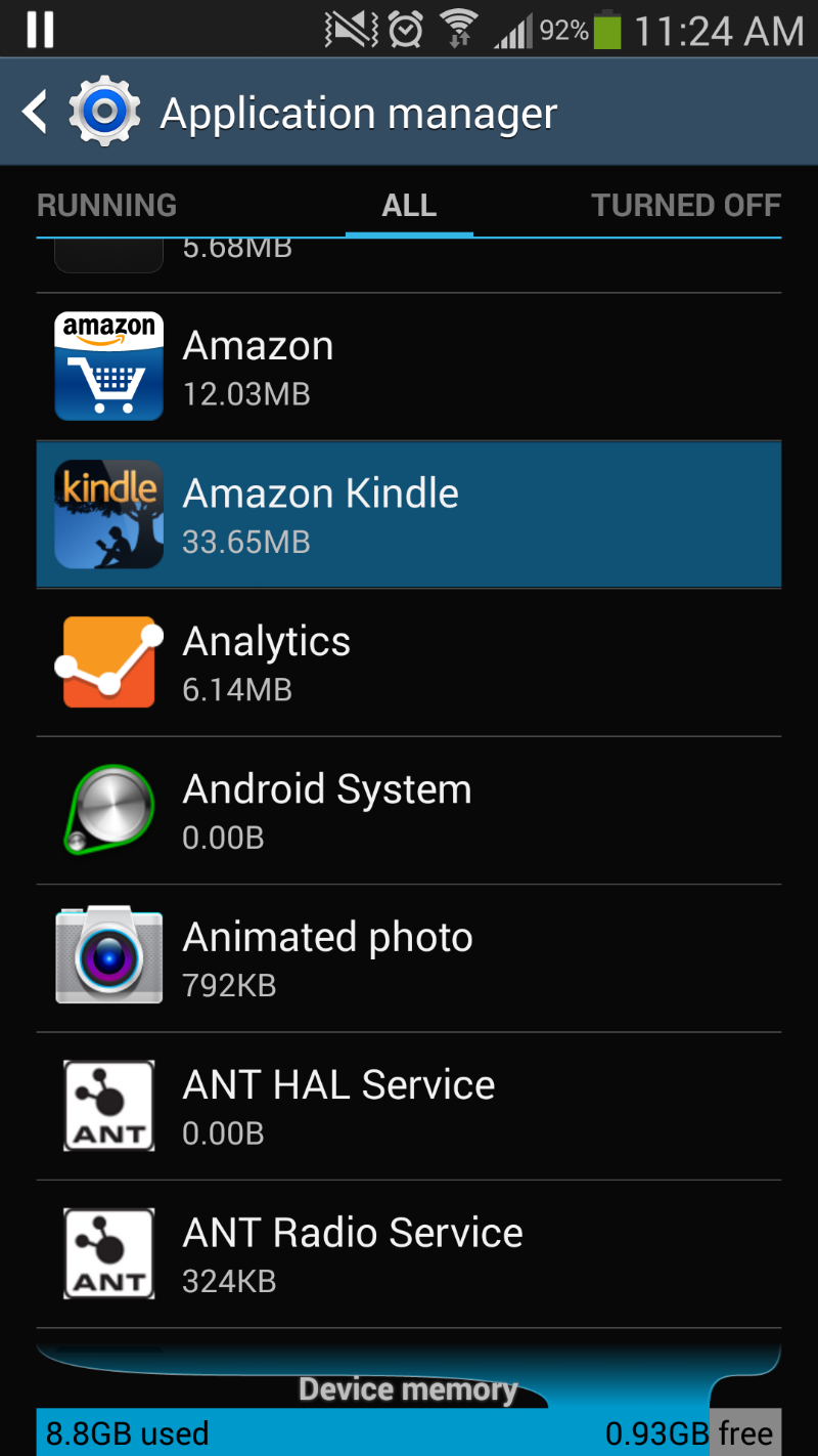 Galaxy S4 Application Manager