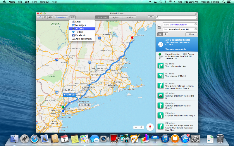 Mavericks Maps App