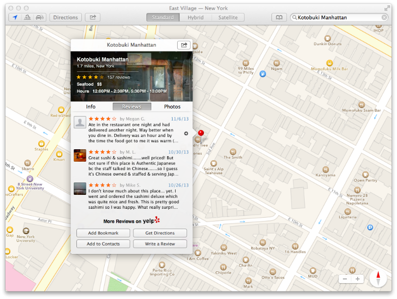 Mac OS X Mavericks Maps Reviews
