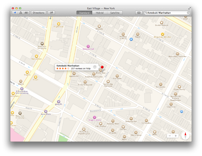 Mavericks Maps Local Search