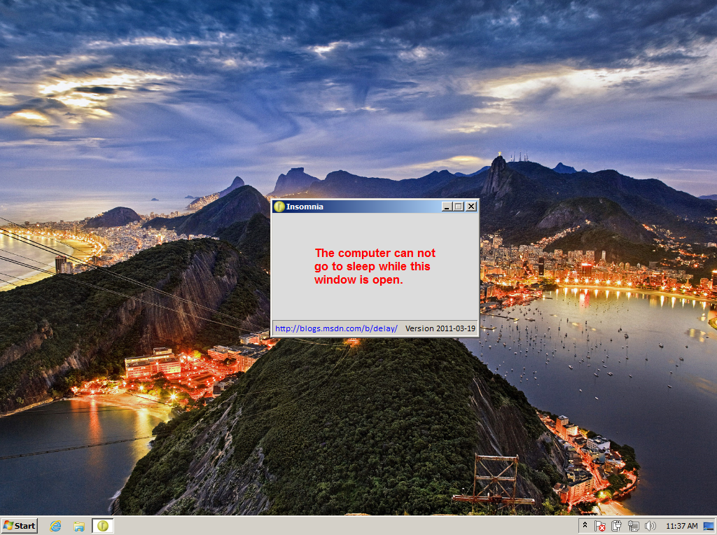Insomnia for Windows 7