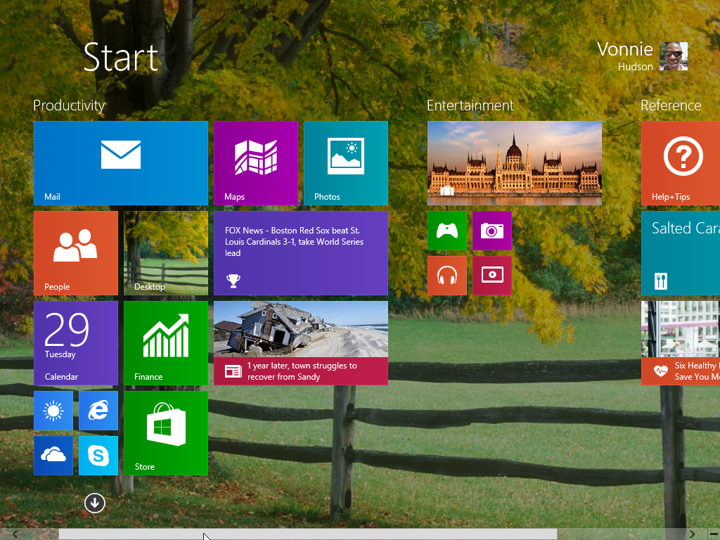 Windows 8.1 Start Screen Organized