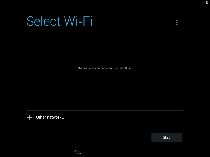 Select WiFi Network KitKat