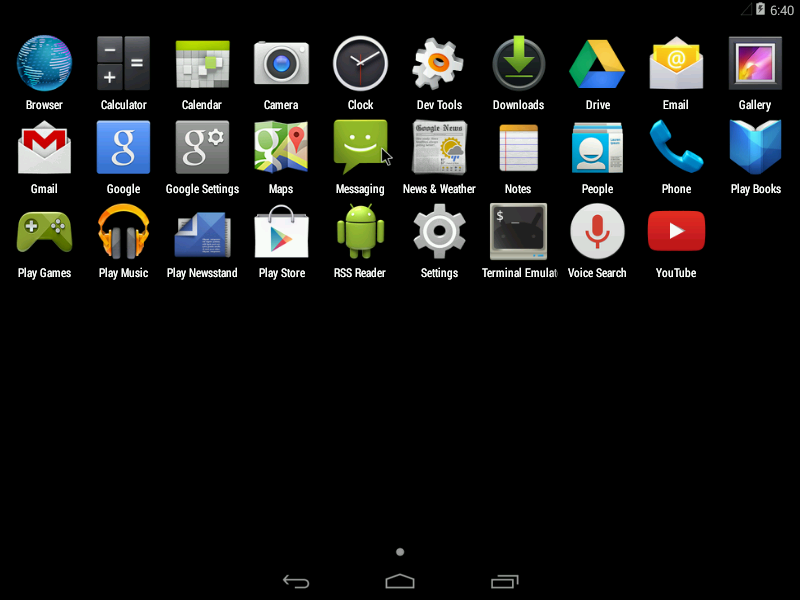 Android 4.4 KitKat home screen