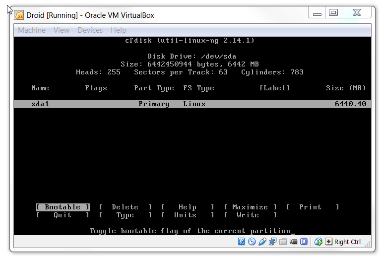 how to delete virtualbox partition